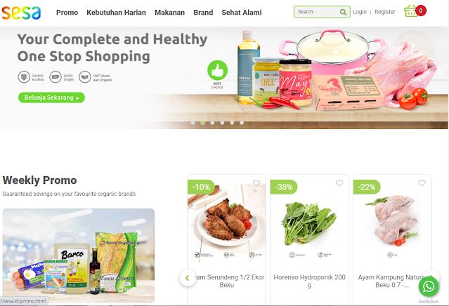 website pemesanan makanan organik