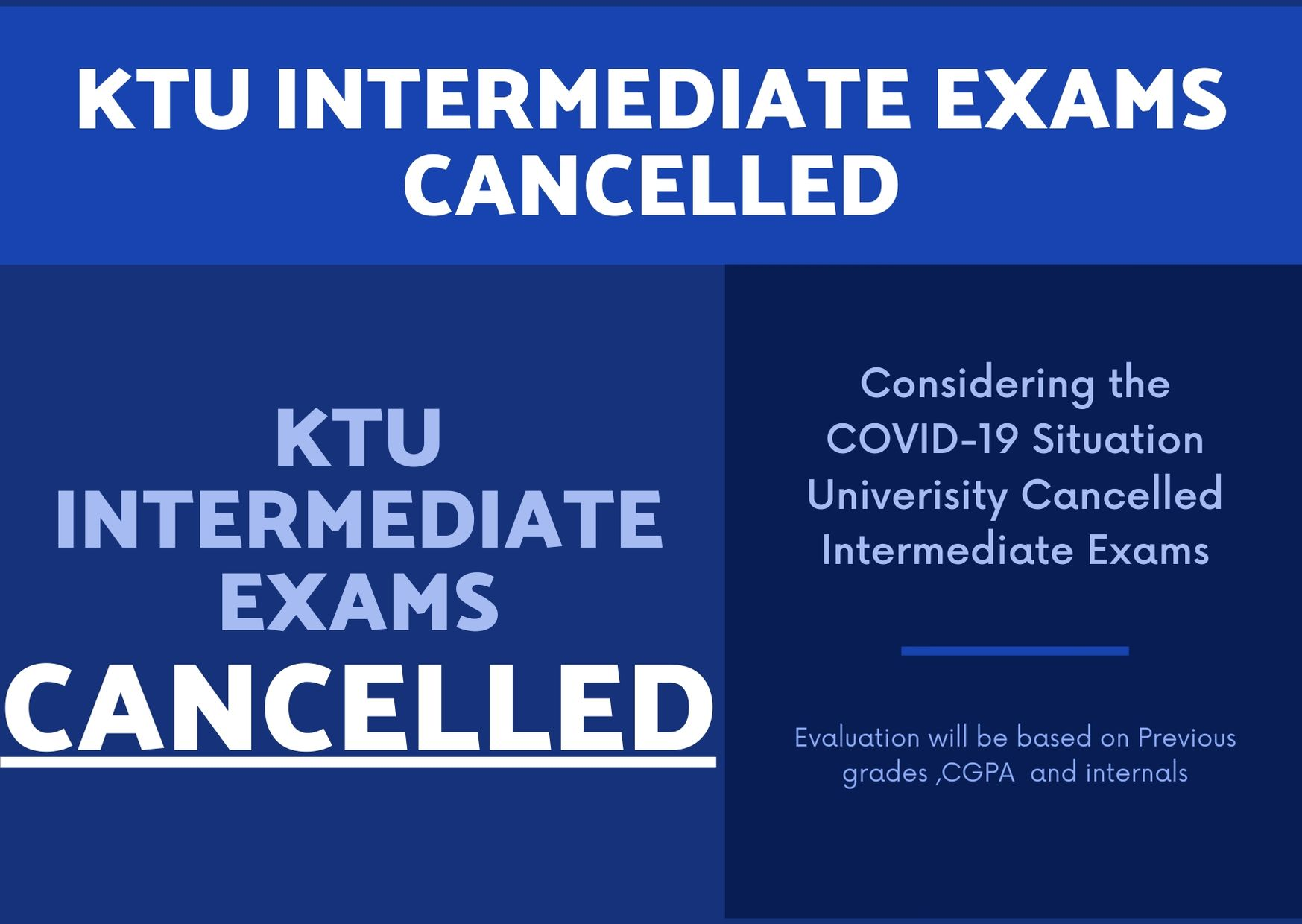 KTU Intermediate Exams Cancelled