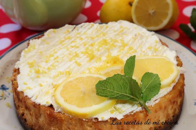 Tarta de queso de limón o cheessker de limón