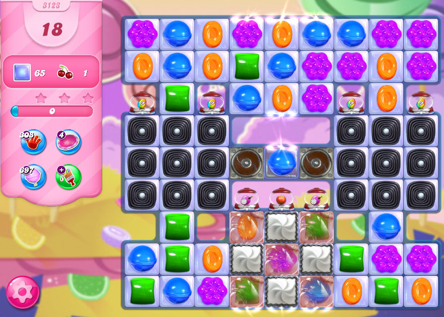 Candy Crush Saga level 3123