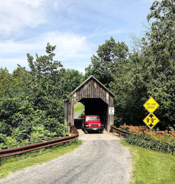 Halpin covered bridge near Middlebury VT