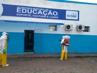 Prefeitura de São Miguel das Matas promove ações de higienização dos espaços públicos