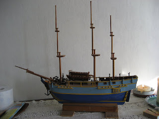 HMS Bounty model ship  by Jan Duyn