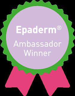 rosette image with Epaderm Ambassador winner written on it