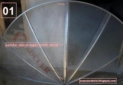 cara memasang parabola c band