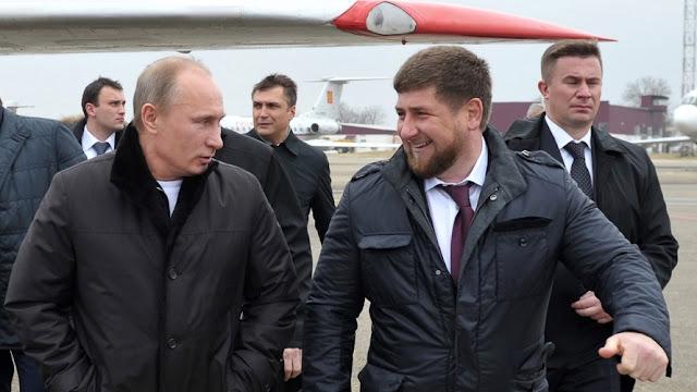 Ramzan Kadirov dengan putin