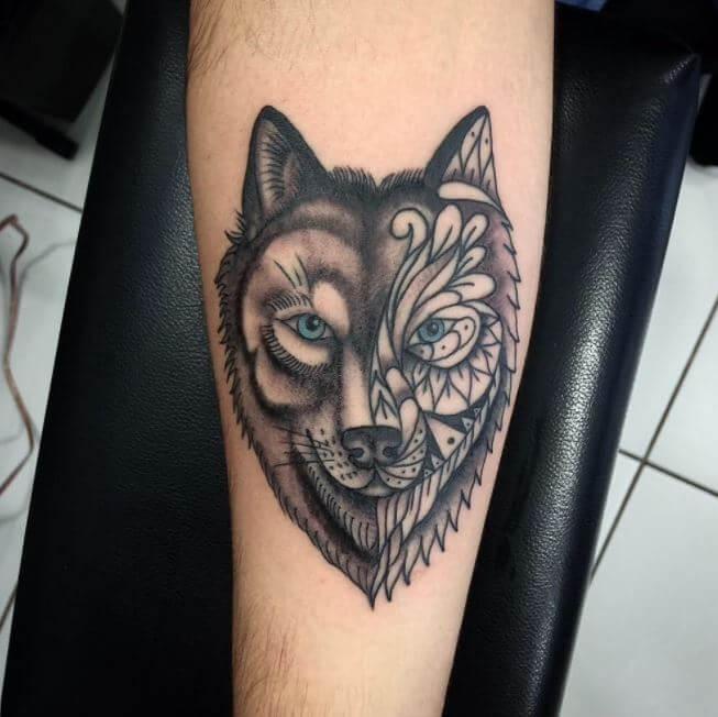amateur homemade porn girl wolf tattoo on shoulder