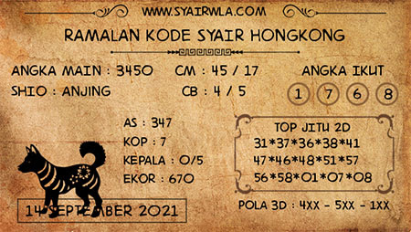 Ramalan HK Selasa 14 September 2021