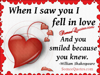 When i saw you i fell in love and you smiled because you knew.