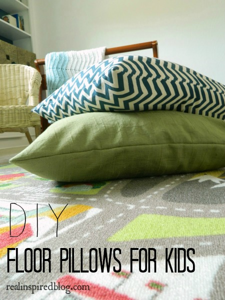 Real Inspired: DIY Floor Pillows for Kids