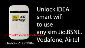 Use JIO @ Guide to MF90 Unlock Airtel - Idea MF90 India Use