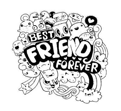 Gambar doodle best friends