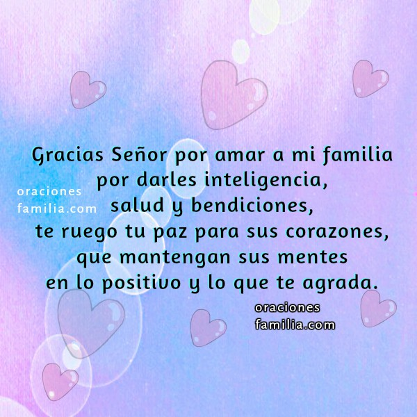 Oración corta por mi familia, bendiciones para mis hijos, protección familiares, oraciones por Mery Bracho