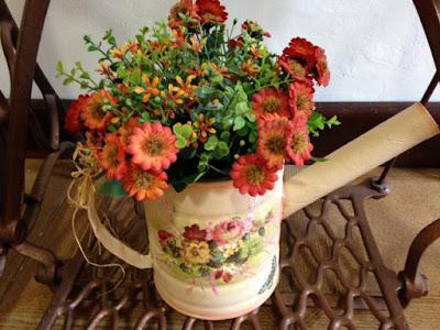 lata reciclagem flores decoração