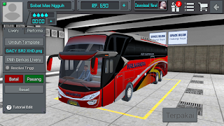Review Livery Bus BUSSID Halmahera SHD+ Link Download Livery Bus BUSSID Halmahera SHD