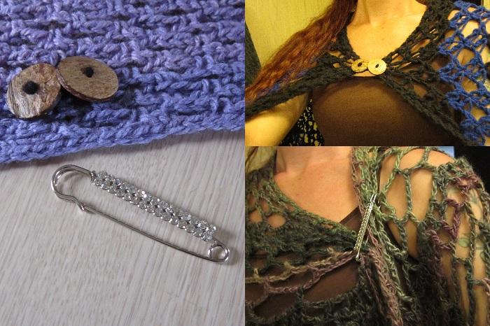 crochet, shawl, pin, toggle
