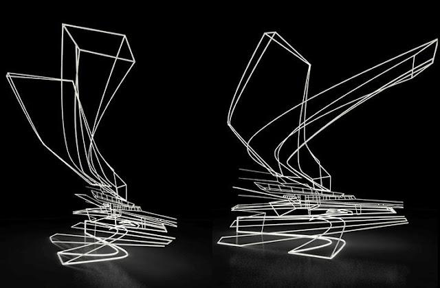 07. Gambar abstrak Zaha Hadid