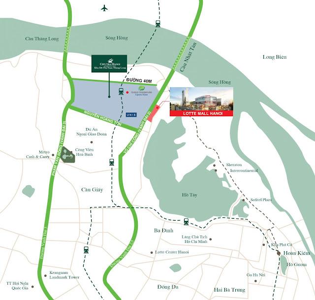 Dự án Lotte Mall Hanoi, Võ Chí Công Tây Hồ, Hà Nội bán cho thuê căn hộ, văn phòng kđt Ciputra