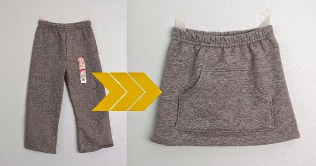 Cómo transformar un pantalón de chándal en una falda de niña