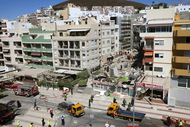Ya son cuatro las personas fallecidas por el derrumbe de un edificio en Los Cristianos, Arona, Tenerife