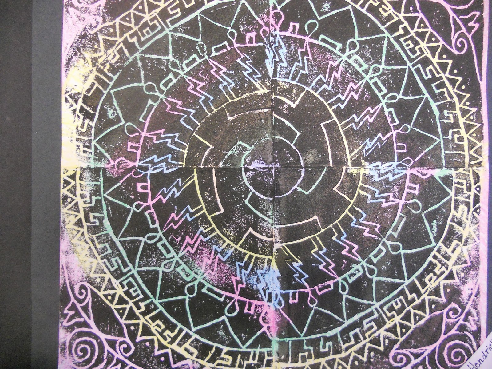 Little Dog Art Blog: 5th Grade Rotational Symmetry Printmaking