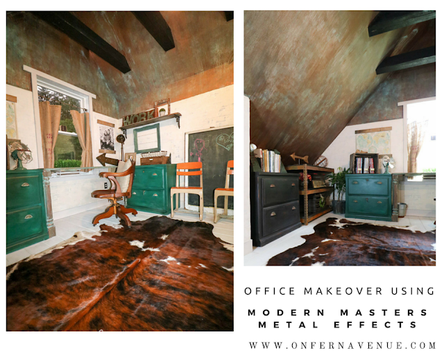 On Fern Avenue Office Makeover Using Modern Masters Metal Effects