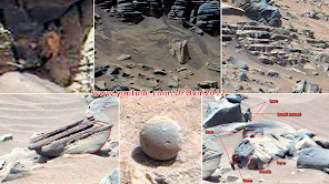 Ancient Aliens sur Mars: Anomalie, Statue, Carrellages, Eau, Fleur, Escaliers
