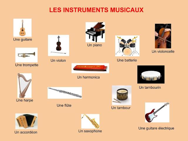 Instrumenty muzyczne - słownictwo 5 - Francuski przy kawie