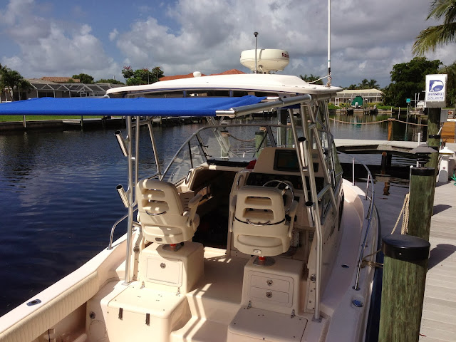 DIY Install of SureShade Retractable Boat Shade on Grady