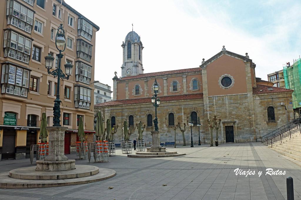 Iglesia de Santa Lucía, playa Cañadío de Santander