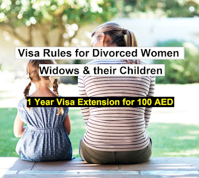 uae visa extension for divorced women, widows and their children