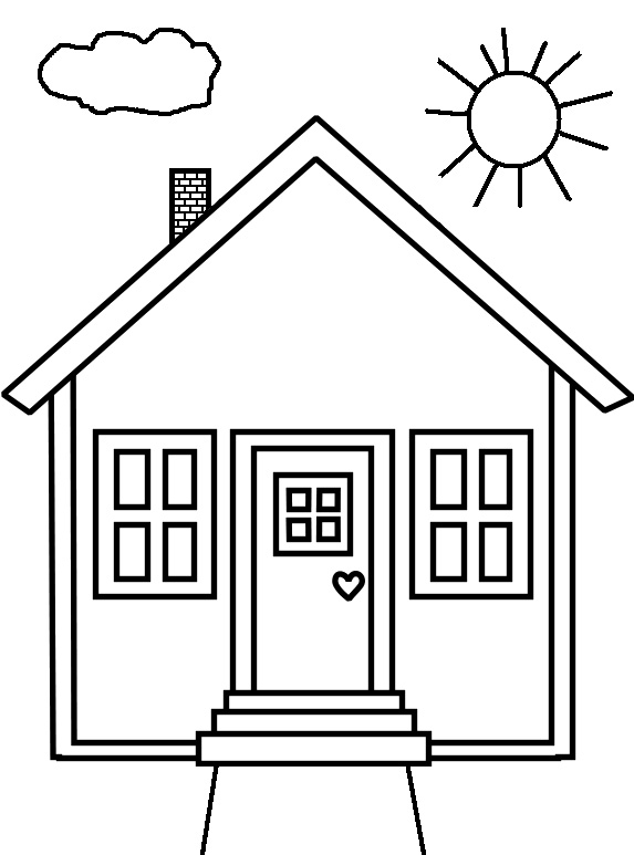 People And Jobs Coloring Pages For Kids: Houses Colouring ...