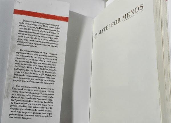 Orelha livro Já matei por menos Juliana Cunha Lote 42 blog