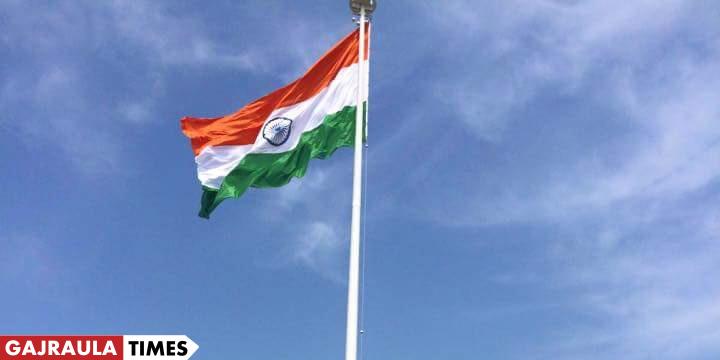 indian-flag-hoisted-gajraula