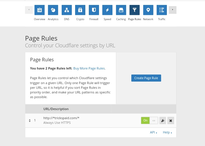Cloudflare Page Rule