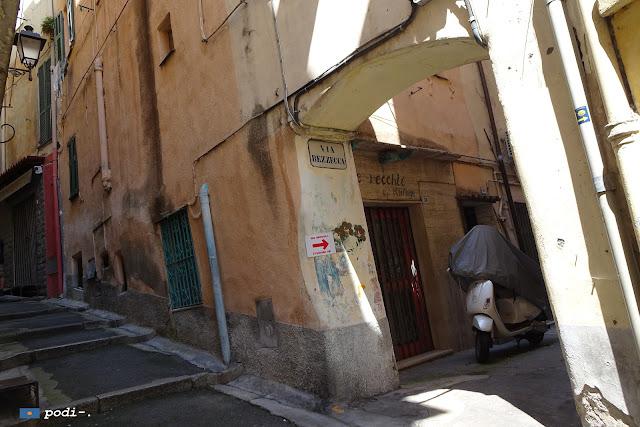 Sanremo, la Pigna, via Bezzecca, centro storico o città vecchia
