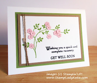 Get Well Card made with Stampin'UP!'s Thoughts and Prayers Stamp Set