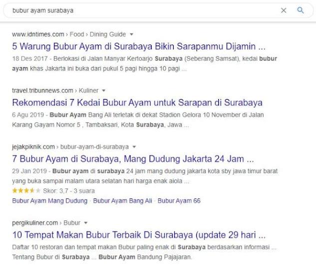 bubur ayam surabaya Google Search Engine Optimization