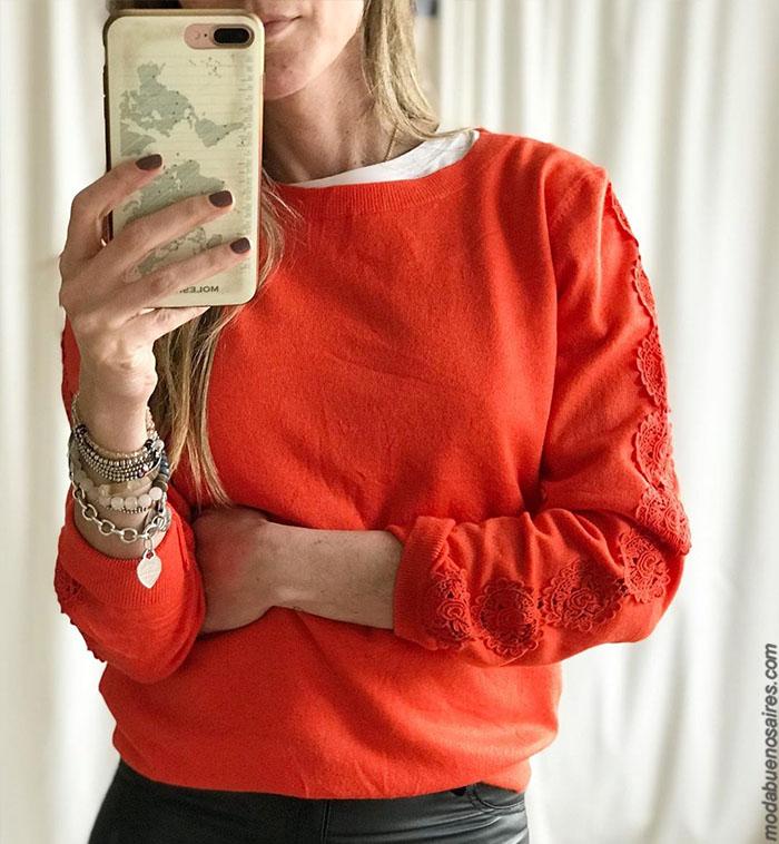 Moda invierno 2019 argentina. Ropa de mujer precios argentina. Sweaters y sacos tejidos. Blusas y camisas 2019 precios.