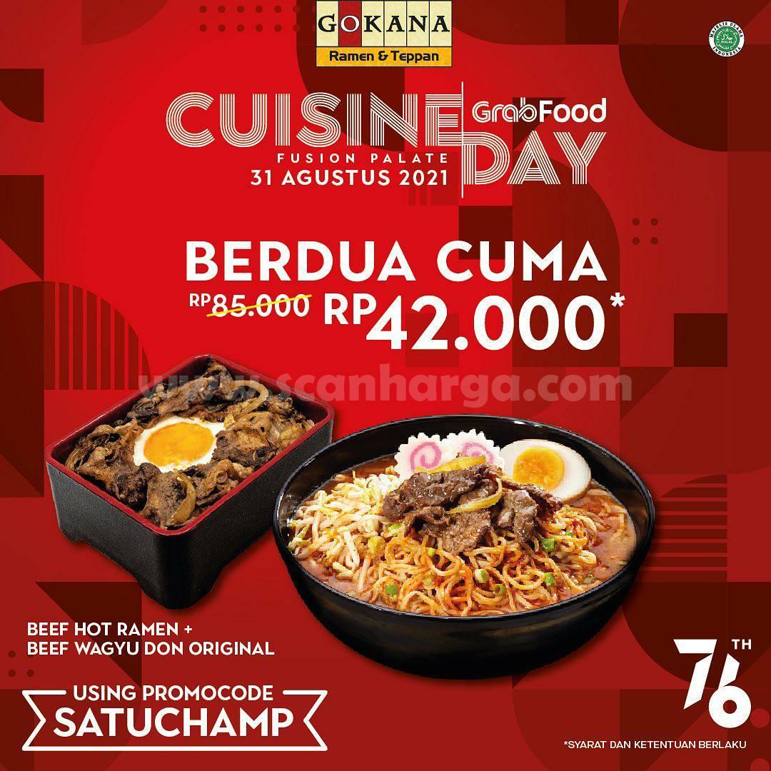 Gokana Cuisine Day - Makan Berdua Rp 42.000 via Grabfood