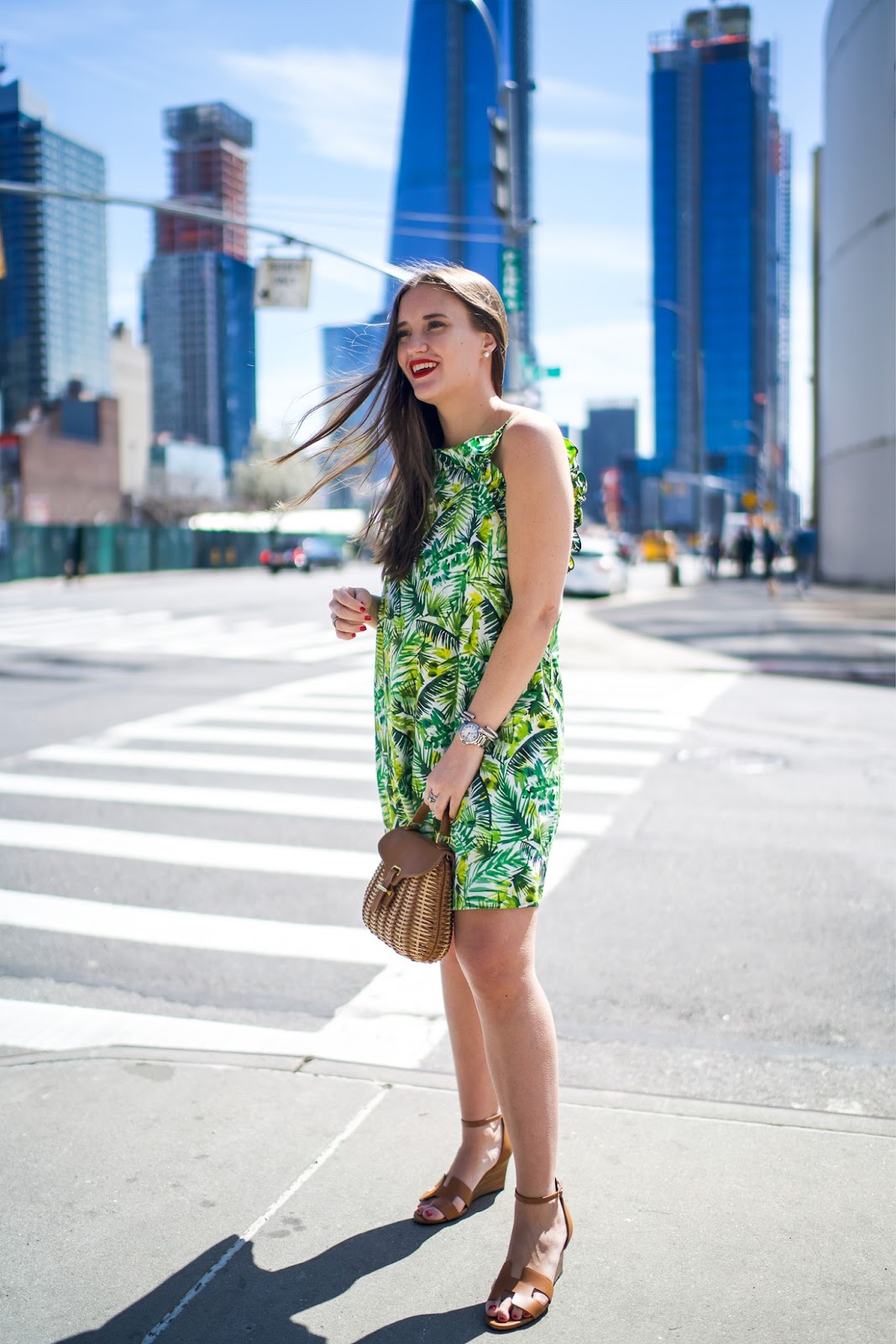 Banana Leaf Dress Under $100 styled by popular New York fashion blogger, Covering the Bases