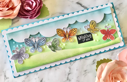 Thinking of you by Farhana features Beautiful Wings by Newton's Nook Designs; #newtonsnook