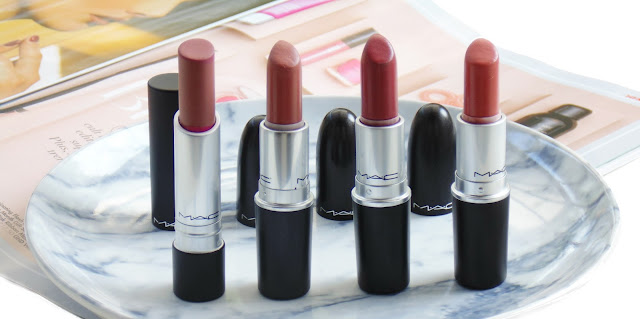 Mini MAC Lipstick Collection + Swatches