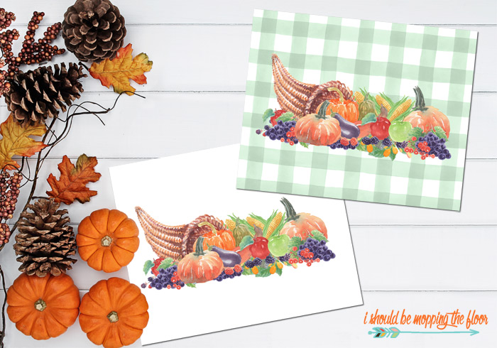Free Thanksgiving Cornucopia Printable