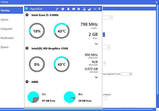 تنزيل برنامج أجاي آي لمراقبة أداء وقدرة جهاز الكمبيوتر عند تشغيل الألعاب والبرامج مجانا