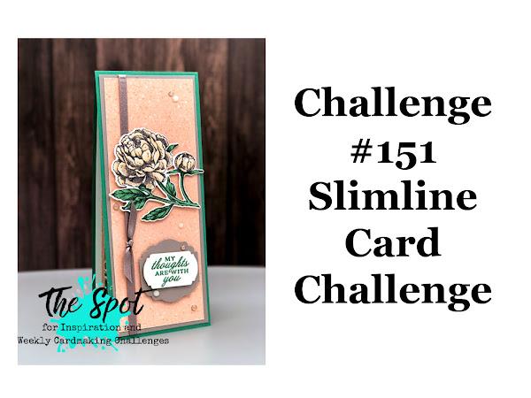 The Spot Challenge #151 - Slimline Card Challenge