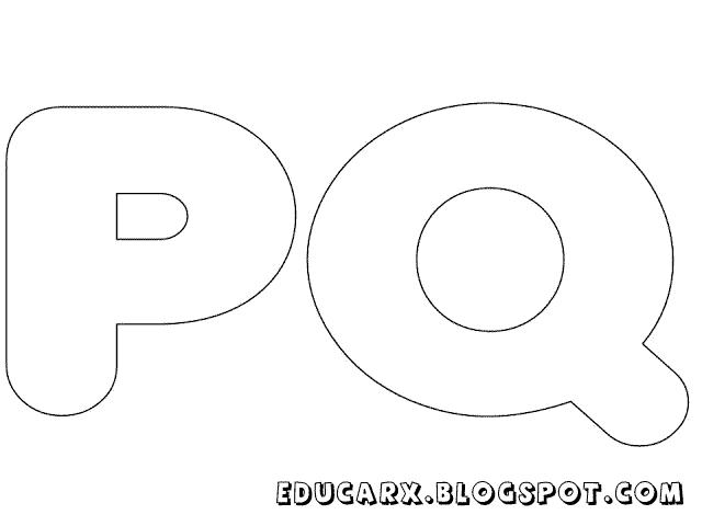 Molde de letras grandes pq