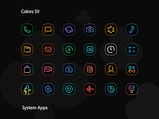 Colors UX Black – Icon Pack v1.1 [Patched] APK