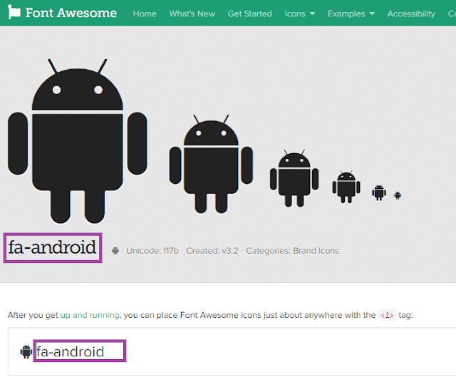 Font Awesome Android