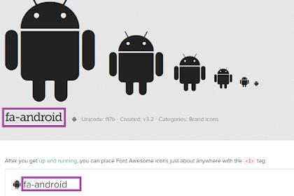 Cara Menambahkan Icon di Menu Navbar Pada Blog atau Website